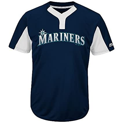 f2d2b1d96c3 Blank Back Adult 2XL Seattle Mariners 2-Button Placket Cool-Base MLB  Licensed Jersey
