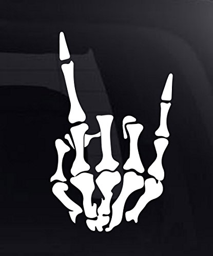 Rock On Skeleton Hand Vinyl Car Decal / Sticker 8.5