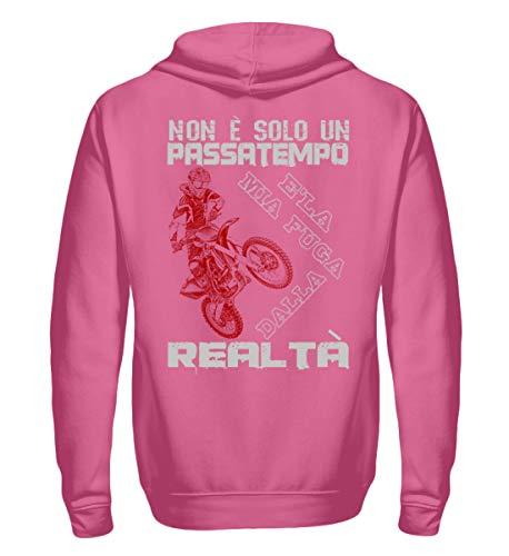 Pink Motocicletta Unisex Motocross Felpa Candyfloss Realta Cappuccio Shirtee Con OBwZv77
