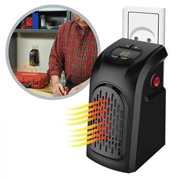 Estufa eléctrica Handy Heater portátil enchufe toma eléctrica de 15 ° a 32 ° 350 W: Amazon.es: Hogar