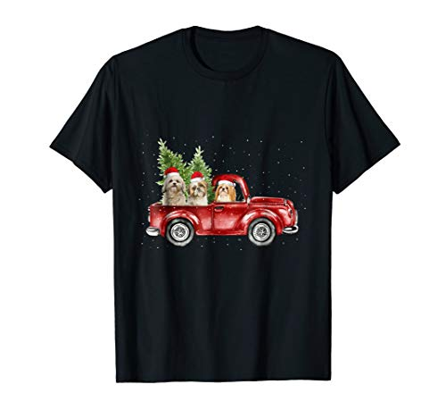 (Shih Tzu christmas car)