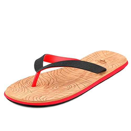 Nedons Skidproof Sommeren Kjølig Thong Sandaler Flip Flops Red