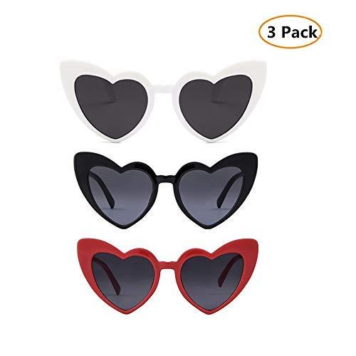 053d0d44004 Image Unavailable. Image not available for. Color  Clout Goggle Heart Sunglasses  Vintage Cat Eye Mod Style Retro Kurt Cobain Glasses