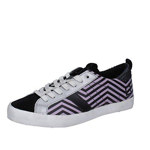 EU D Donna Camoscio Lilla Nero Pelle T Sneakers 37 E A Date qx6nqTZ