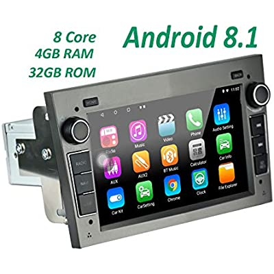 LEXXSON Android Car Stereo for Opel Vauxhall Corsa Astra Android 8 1 Octa Core RAM Car Navigation Stereo inch Touch Screen Support Bluetooth RDS DAB WiFi MirrorLink Canbus