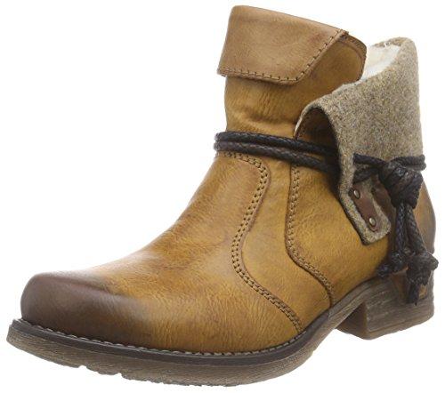 Rieker79693 - botas de caño bajo Mujer, color Marrón, talla 36