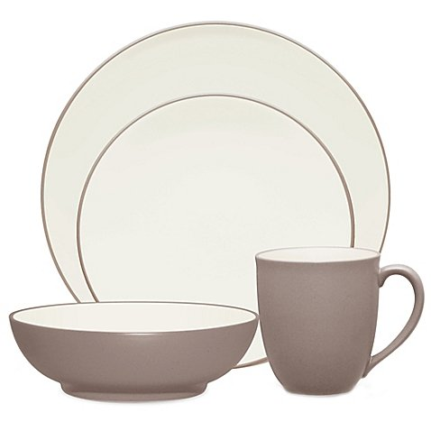Place Setting With A Creamy Glaze Interior And A Matte Exterior 4-Piece in Clay