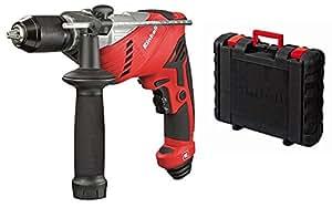 Einhell RT-ID 65/1 - Taladro percutor, portabrocas 1.5 - 13 mm, 650 W, 230 -240V, color rojo y negro