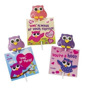 Fun Express - Owl & Friends Card Lollipops , Size Each 2
