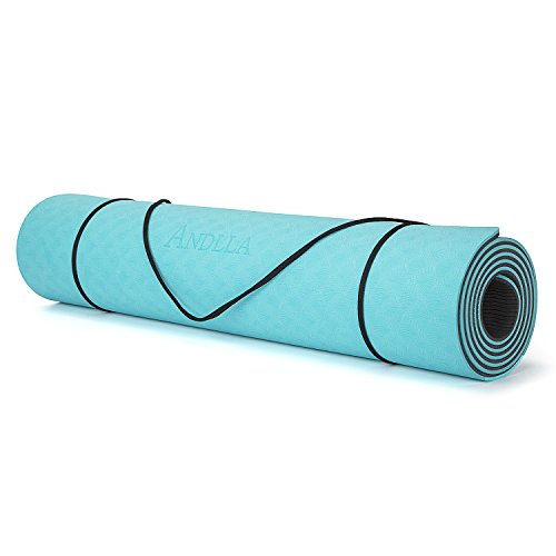 ANDLLA Women's Yoga Mat TPE Eco-friendly Reversible None slip 1/4-inch Thick 24 Inches Wide 71 Inches Long For Pilates Exercise...  yoga mat zenergy | Zenergy Yoga Class 41sg 2BMoR39L