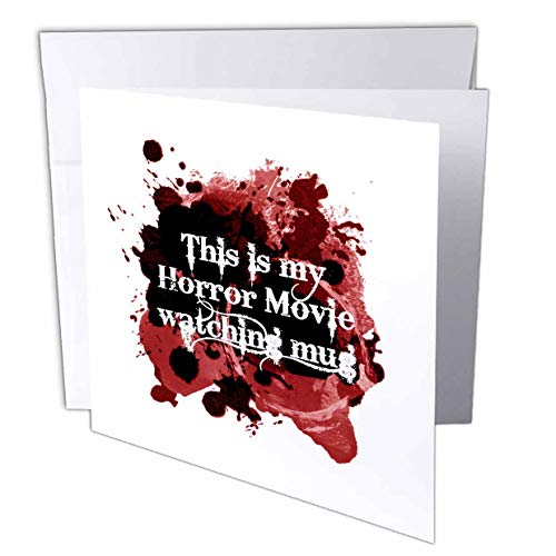 3dRose InspirationzStore - Occasions - This is My Horror Movie Watching Mug - for Scary Halloween Film Fans - 12 Greeting Cards with envelopes (gc_317314_2)]()