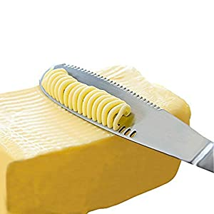 Stainless Steel Butter Spreader, Knife – 3 in 1 Kitchen Gadgets (2 Set)