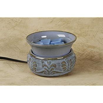 Darice MELT-008 Embossed Light Blue Ceramic Electric Wax Warmer
