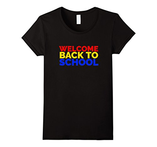 Womens Welcome Back to School | Cute Back to School T Shirt Medium Black