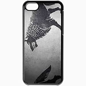 diy phone casePersonalized ipod touch 5 Cell phone Case/Cover Skin The Game Of Thrones A Song Of Ice And Fire Series Stark Coat Of Arms Wolf Blackdiy phone case
