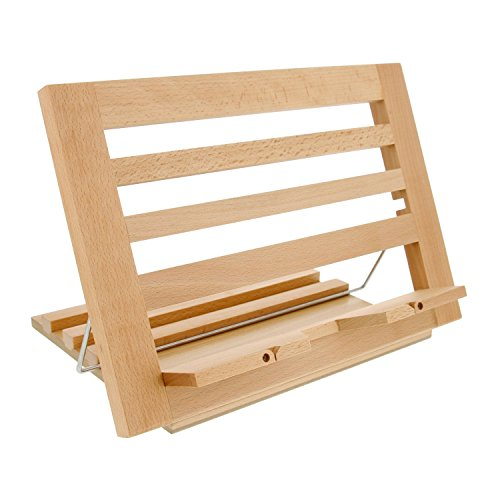 US Art Supply Extra-Large Wooden Bookrack Table Easel & Cookbook Holder ()