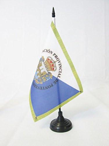 AZ FLAG Bandera de Mesa de la Provincia DE PONTEVEDRA 21x14cm ...