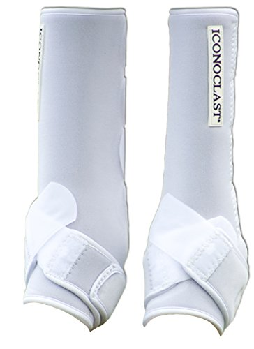 Iconoclast Extra Tall Orthopedic Support Boots - 1 Pair for Hind Legs (Black, Medium)