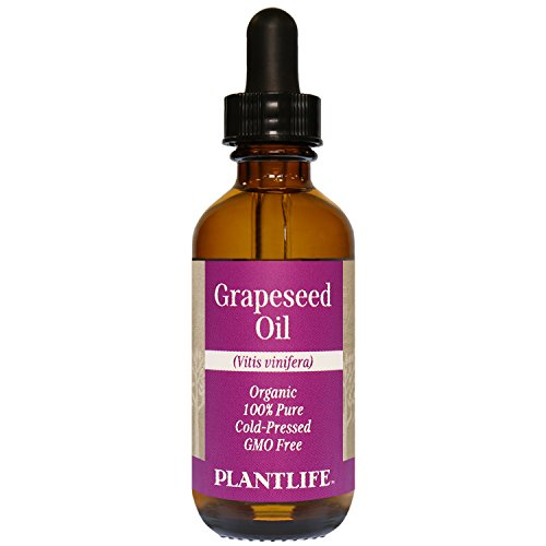Organic Grapeseed Oil 2 oz - 100% Pure Cold Pressed Base Oil for Aromatherapy