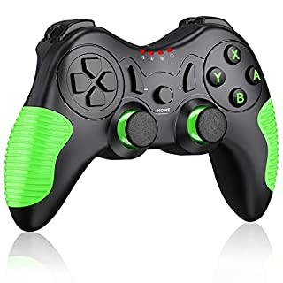 JACKiSS PRO Wireless Pro Controller for Switch Controllers,Pro Controller Compatible with Switch/Switch Lite, Remote Control for Switch Controller Wireless with Dual Motion/Vibration/Screenshot-Green