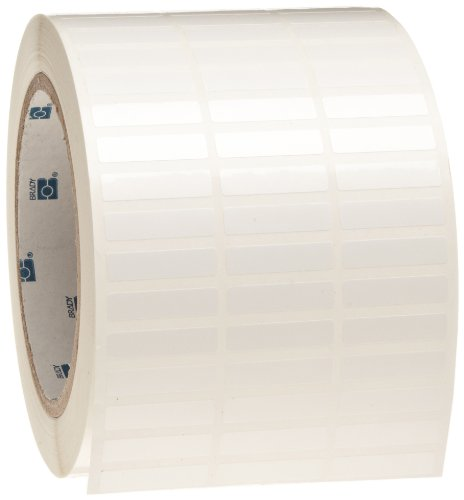 Brady THT-51-423-10 1'' Width x 0.25'' Height, B-423 Permanent Polyester, Gloss Finish White Thermal Transfer Printable Label (10000 per Roll) by Brady