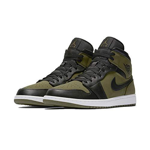 1 554724301 Canvas Mid Olive Air Nike Basket Jordan wWq1xAZR16