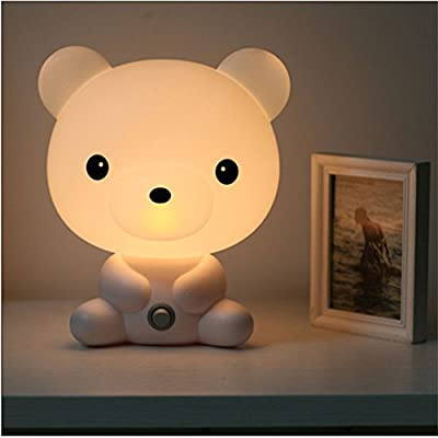 bravolotus Cartoon Animal LED de mesa lámpara de mesa luz luz de ...