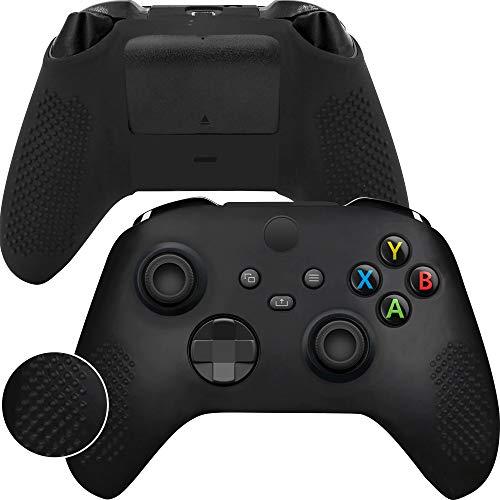 Game Rig Xbox Series X&S Controller Cover Silicon Skin - Anti-Slip 100% Compatible Case - 360 Degree Gamepad Protector Black