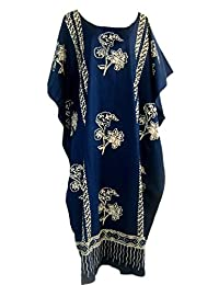Cool Kaftans Java Print Cotton Kaftan Caftan Dress One Plus Size