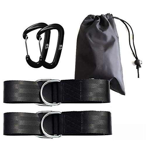Autumn Water Tree Swing Hanging Kit Holds 1800lbs, Easy & Fast Swing Hanger Installation to Tree- 2 Strap & Snap Carabiner Hook