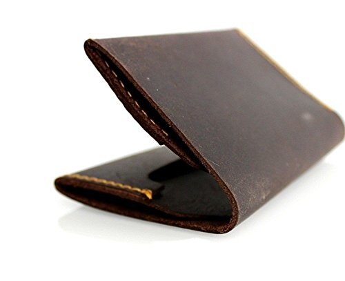 Genuine Leather Mini Small Wallet Handmade Slim S Id Pocket Card M Slots Free Shipping D
