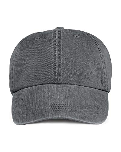 A Product of Anvil Adult Solid Low-Profile Pigment-Dyed Cap -Bulk Charcoal