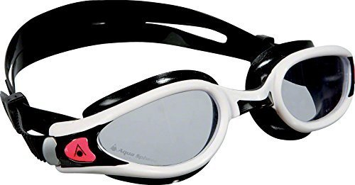 - Aqua Sphere Kaiman Exo Lady Swimming Goggles with Clear Lens, White/Black