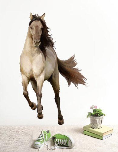 Amazon.com: PopDecors Repositionable Fabric Horse Wall Sticker Living Room  Printed Wall Decals   Running Horse   2014 Horse Year Wall Decors Removable  Wall ...