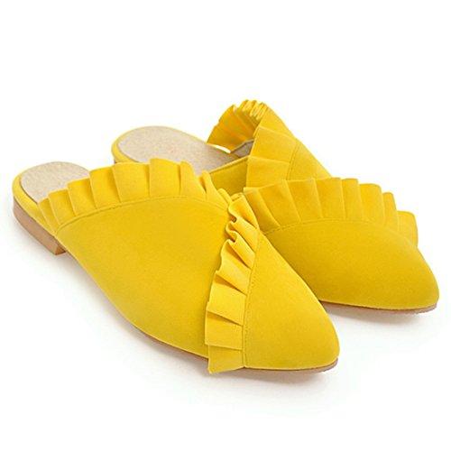 B6 Caviglia La BDB Dietro Cinturino 7A22132 con Donna Artfaerie giallo qSE0aTwn