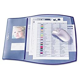 Durable - Work Pad 3 Overlays 17 1/4 X 15 1/4 Dark Blue \