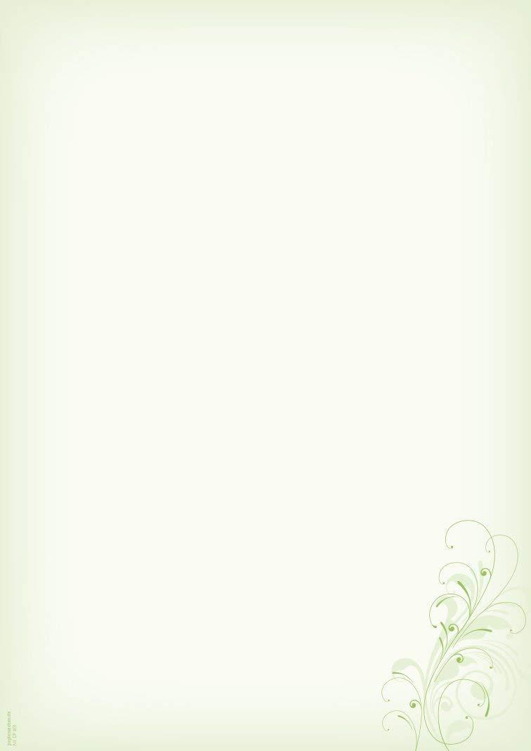 DS101 Briefpapier-Set Neutral gr/ün Brief Schreibpapier Einladung Briefpapier 10 Umschl/äge B6 Set 10 Blatt DIN A4 Geburtstag Jubil/äum