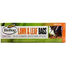 BioBag Premium Compostable Lawn & Leaf Yard Waste Bags, 33 Gallon, 10 Count (Pack of 2)