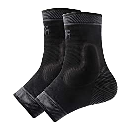 Protle Foot Socks Ankle Brace Compression Support Sleeve with Silicone Gel – Boosts Recovery from Joint Pain, Sprain, Plantar Fasciitis, Heel Spur, Achilles tendonitis