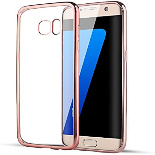 S7 Edge Case?L-JUWA S7 Edge Case Hybrid [Scratch Resistant]Flexible Soft TPU Bumper and Clear Back Cover for Samsung Sales