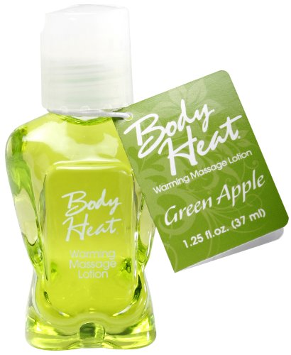 BODY HEAT WARMING MASSAGE LOTION 1.25 OZ GREEN APPLE a pipedream product by Pipedream