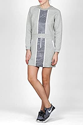 Nike Women's Tech Fleece Grey and White Splatter Dress