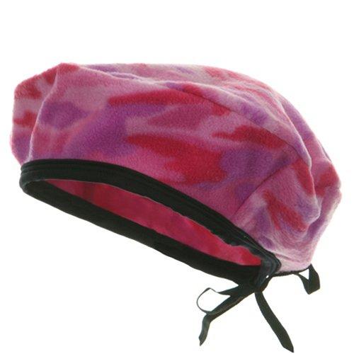 e4Hats.com Camo Fleece Beret-Pink