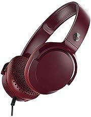 Skullcandy Riff On-Ear hoofdtelefoon met microfoon, verbeterde akoestisch, opvouwbaar, besturing van oproepen en muziek, pluche oorkussens met duurzame hoofdbeugel, moab/rood