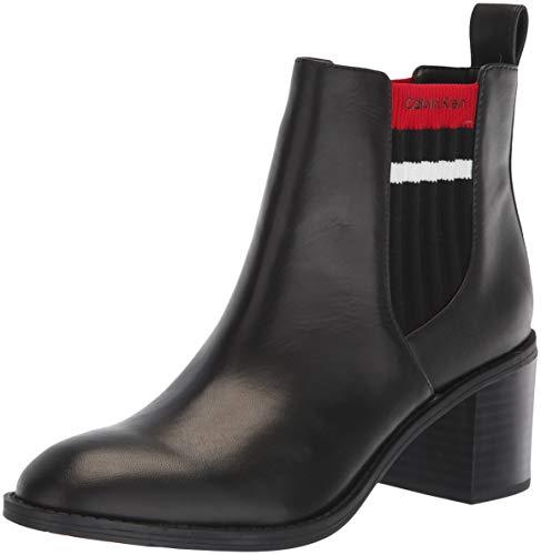 Calvin Klein Women's Perron Ankle Boot, Rouge/Black, 9 Medium US