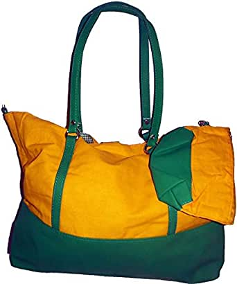 Green Bag UAE DB 3498 Tote Bag for Women - Canvas, Yellow and Blue