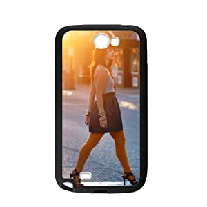 Case For Samsung Galaxy Note2 N7100,Girl Crossing The Street Polycarbonate Hard Case Back Cover For Samsung Galaxy Note 2/Samsung Galaxy N7100 3D