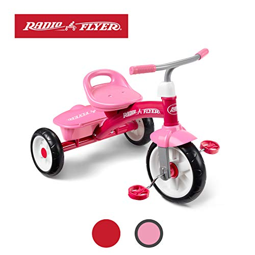 Radio Flyer Pink Rider Trike (Amazon Exclusive) (Girls Radio Flyer Tricycle)