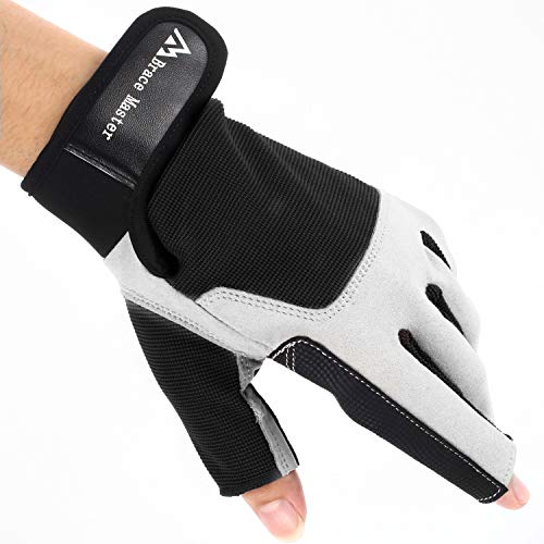 Brace Master Sailing Gloves Men Women for Sailing, Fishing, Boating, Kayaking, Surfing, Canoe Padding, Dinghy and Water Sports, Leather in Palm to Enhance Gripping