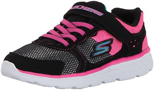 GO Run 400-Sparkle Sprinters Sneaker,Black/Hot Pink, 11 M US Little Kid ()